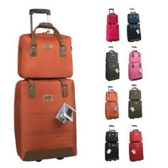 Travelhouse ABS Hard shell Travel Trolley Suitcase 4 wheel Luggage ...