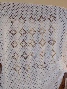Crochet bebé blanco afgano blanco bebé regalo recién nacido