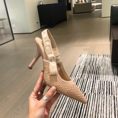 Dior slingback technical mesh sandals Dior Designer, Dior Shoes, Pumps, Heels, Mesh, Sandals, My Style, Outfits, Fashion