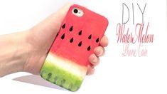 Easy DIY Watermelon Phone Case! SUPERCUTE and fruity