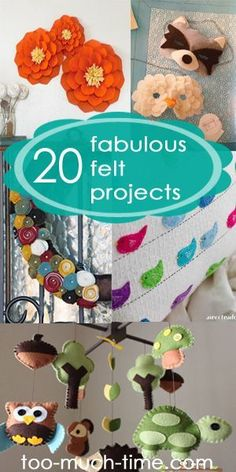 Main Ingredient Monday-20 creative and fun felt crafts and projects #feltcrafts