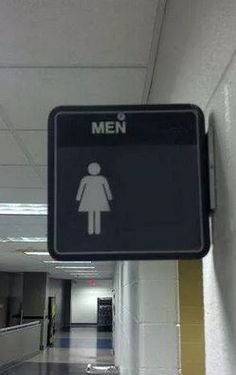 Na was denn nun? Toilette für Frauen oder Toilette für Männer? Wahrscheinlich soll man erstmal reinschauen und sich dann überraschen lassen.   unfassbar.es