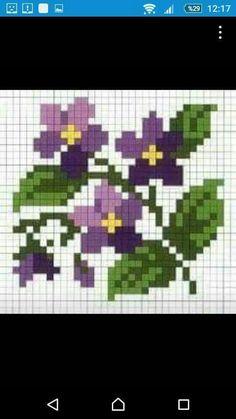 cross stitch pattern, little flowers Mini Cross Stitch, Cross Stitch Cards, Cross Stitch Flowers, Cross Stitching, Cross Stitch Embroidery, Embroidery Patterns, Hand Embroidery, Cross Stitch Designs, Cross Stitch Patterns