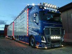 Blue Volvo truck