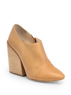 Chlo? Leather Ankle Boots (saksfifthavenue.com