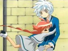 Ahiru hugging Mytho.