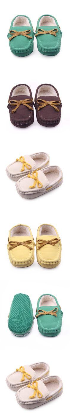 Soft Newborn Girl Boy Loafers Slipper First Walkers Tooddler Kid Slip-On Indoor Baby Shoes $3.9