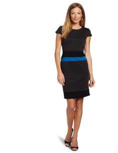 Anne Klein Women's Color Block Ponte Sheath Dress « Clothing Impulse