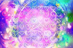 Abstrato colorido com padrão de coração — Fotografia Stock
