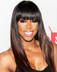 The Best Celebrity Bangs - Kelly Rowland from #InStyle