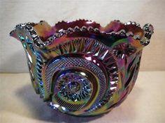 Vintage Amethyst Carnival Glass