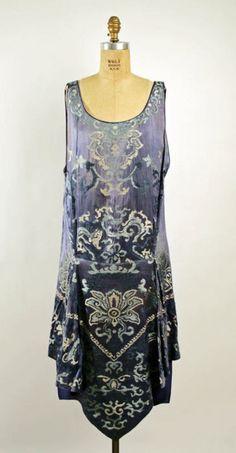 Callot Soeurs dress ca. 1926 via The Costume Institute of the Metropolitan Museum of Art