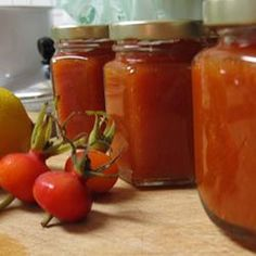 Rose Hip Freezer Jam using Rugosa rosehips.  I have approx 342 million rosehips this year, so here goes nuthin'