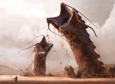 Shai hulud inspired in dune universe #illustration #art #drawing #painting #conceptart #worm #dune by manuel2k10
