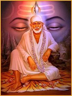 """Baba has promised, """"I shall be active and vigorous even from the tomb,"""" and it is perhaps in the Mandir. History Of Behind Shirdi Sai Baba Sai Baba Pictures, Sai Baba Photos, God Pictures, Nature Pictures, Sathya Sai Baba, Hd Wallpapers For Mobile, Mobile Wallpaper, Clock Wallpaper, Wallpaper Wallpapers"""
