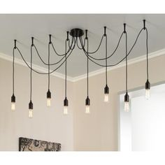 Europa 1910 Edison Bulb Bronze Swag Chandelier - love this over a big farmhouse dining table!