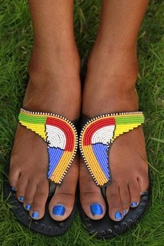 Boomerang Africa Sandals- by The Afropolitian Shop $35
