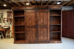 Barn door entertainment cabinet by Furniture From The Barn