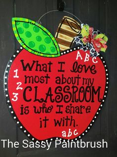 Check out this item in my Etsy shop https://www.etsy.com/listing/270219029/apple-door-hanger-teacher-gift-back-to