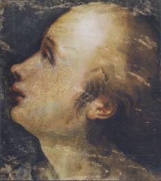 Federico Barocci (Urbino c. 1535-Urbino 1612) The head of a woman  c.1555 Black, red, yellow, pink and ochre chalks, heightened with white