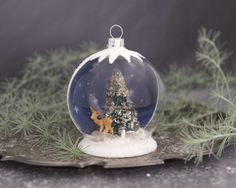 Tutorial: Christmas Snow Globe Ornament – Smile Mercantile Craft Co.