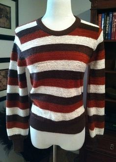 Buy my item on #vinted http://www.vinted.com/womens-clothing/sweaters/19873600-vintage-striped-chenille-crew-neck-sweater