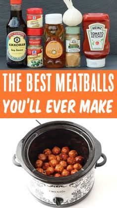 Slow Cooker Meatballs, Frozen Easy Honey Garlic Meatballs make the perfect dinner served over rice, or best party-pleasing appetizer! Go grab the recipe and give them a try this week! Garlic Meatball Recipe, Meatball Sauce, Meatball Recipes, Party Food Meatballs, Crock Pot Meatballs, Sauce For Meatballs Easy, Jelly Meatballs, Meat Appetizers, Easy Appetizer Recipes