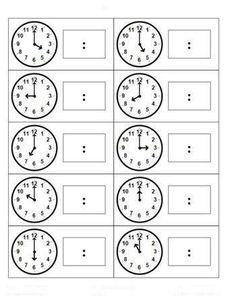 First Grade Math Telling Time Teaching Time, Student Teaching, Math Classroom, Kindergarten Math, Maths, Math Measurement, Math School, School Worksheets, Free Worksheets