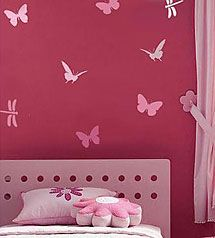 Butterfly and Dragonfly Stencils, 4 pc kit