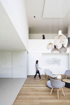 Francisca Hautekeete - Architect Gent - Projects - V Minimalist Architecture, Interior Architecture, Exterior Design, Interior And Exterior, Villa, Living Spaces, Living Room, Scandinavian Living, Loft