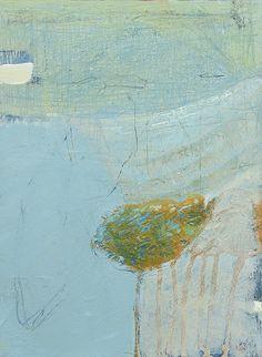 David Mankin | Contemporary Abstract Artist | Cornwall 'Tamarisk', Acrylic and mixed media on wood panel, 20cm x 30cm