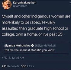 That is indeed a scary statistic. We can do better guys. Let's help our native sisters out.
