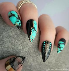 Cute Stiletto Nails With Matte Accents. If you are a passionate lover of a matte finish, have a look at these matte and cute stiletto nails. 10 Fab Ideas for Stiletto Nails Designs # Stiletto Nail Art, Cute Acrylic Nails, Acrylic Nail Designs, Cute Nails, Pretty Nails, Nail Art Designs, Nails Design, Stiletto Nail Designs, Short Stiletto Nails