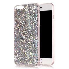 iphone 8 Plus Phone Case Glitter Dazzling Mate Sparkle Design for iphone7 5.5 (Mermaid Silver)
