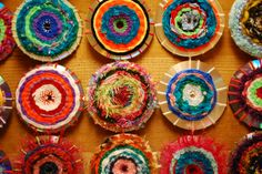 CD weaving project. This looks like fun to make. Great project for kids.