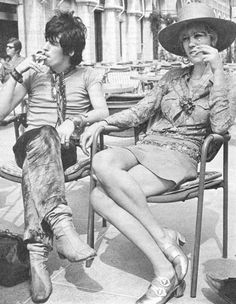 Keith Richards with Anita Pallenberg at the Venice Film Festival.