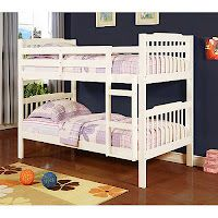 Elise Bunk Bed Soft White for $169.00 + Free shipping to store (Was 229.88) at Walmart.com