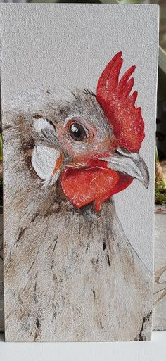 Chicken Painting, Chicken Art, Chicken Drawing, Painting On Wood, Animal Paintings, Animal Drawings, Pencil Drawings, Art Drawings, Rooster Art