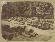 Locomotiva utilizada em obras de abastecimento de água no Rio, 1899. Arquivo Nacional. Fundo Família Bicalho. BR_RJANRIO_PQ_0_FOT_004_f022.