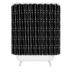 Allyson Johnson Black Arrows Shower Curtain | DENY Designs Home Accessories