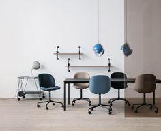 GUBI // Matégot Trolley, Cobra Table Lamp, Beetle Chair, Démon Shelf, Y-Table, Multi-Lite Pendant