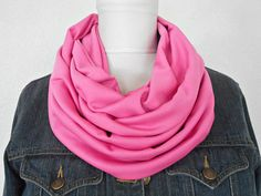 Valentine Scarf Hot Pink Infinity Circle Cowl by ModaBellaScarves