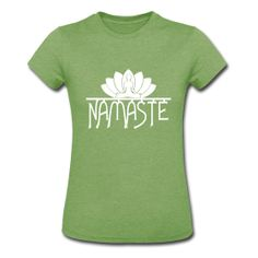 Lotus Flower Namaste Yoga vector. Women's Heather Jersey T-Shirt ~ FREE Standard Shipping on All Orders of $30 or more. Coupon Code: FREESUMMER, 6/1 - 6/5. Don't Miss Out!