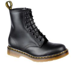 New Dr. Martens 1460 8 Eye Boot BLACK Smooth UK 5 - 12 Thumbnail 1