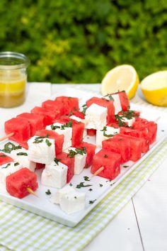 Wassermelone Feta Spieße // Watermelon Feta Skewers