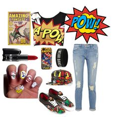 """Comic Effect"" by adindabalqis on Polyvore"