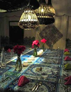 at home - moroccan dining room and lounge, mezzanine floor, four
