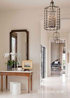 Balzac limestone floors and light walls allow vintage furnishings and architectural elements to shine. - Photo: Michael Garland / Design: Kazuko Hoshino