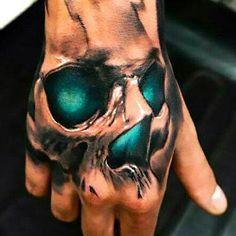 Best Skull on Hand Tattoo Idea