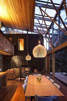 wood open plan